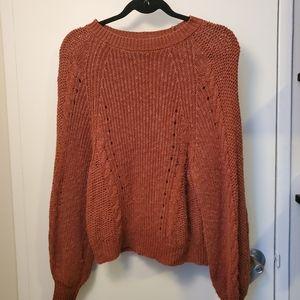American Eagle Rust Knit Sweater